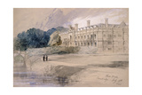 Clare Hall, Cambridge, 1846 Giclee Print by John Gilbert