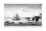 Blackwall, Poplar, London, 1750 Wydruk giclee autor John Boydell