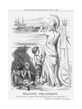Telescopic Philanthropy, 1865 Giclee Print by John Tenniel