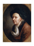 Portrait of the Mathematican Leonhard Euler, (1707-178), German Painting of 18th Century Giclee Print by Joseph Friedrich August Darbes