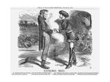 Extremes Meet, 1863 Giclee Print by John Tenniel