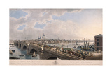 City of London from the South, 1802 Giclee Print by Joseph Constantine Stadler