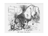 The Pope's Mad Bull, 1865 Giclee Print by John Tenniel