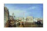 Bridge of Sighs, Ducal Palace and Custom-House, Venice: Canaletti Painting, 1833 Giclee Print by Joseph Mallord William Turner