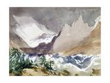 Swiss Mountain Landscape, 19th Century Giclee Print by John Ruskin