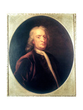 Isaac Newton, English Mathematician, Astronomer and Physicist, C1725 Giclée-Druck von John Vanderbank