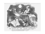 The Reform Bill, 1866, Frantic Excitement!!!, 1866 Giclee Print by John Tenniel