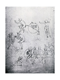Studies for the Adoration of the Magi and the Last Supper, 15th Century Giclee Print by  Leonardo da Vinci