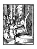 The Manufacture of Oil, 16th Century Giclee Print by Jost Amman