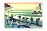 From the Series Hundred Poems by One Hundred Poets: Minamoto No Tsunenobu, C1830 Giclee Print by Katsushika Hokusai