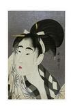 Woman Wiping Sweat, 1798 Giclee Print by Kitagawa Utamaro