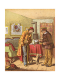 Paying for Letter Delivery, C1870 Giclee Print by Oskar Pletsch