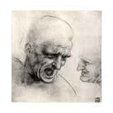 Heads of Warriors, 1503-1505 Giclee Print by  Leonardo da Vinci