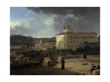 View of the Villa Medicis, Rome, 1815 Giclee Print by Nicolas Antoine Taunay
