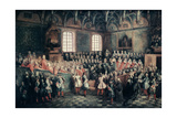 The Seat of Justice in the Parlement of Paris, 1723 Giclee Print by Nicolas Lancret