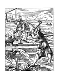 Carpenters, 16th Century Giclee Print by Jost Amman