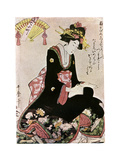 The Madonna of the Paper Stork Giclee Print by Kitagawa Utamaro