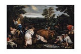 September (From the Series the Seasons), Late 16th or Early 17th Century Giclee Print by Leandro Bassano