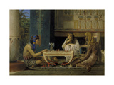 Egyptian Chess Players, 1865 Giclee Print by Lawrence Alma-Tadema
