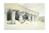 Portico of the Sandstone Temple of Edfu Dedicated to the Falcon-Headed God Horus, Egypt, 1838 Giclee Print by Louis Haghe
