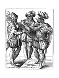 Flute and Cornetto Players, 16th Century Giclee Print by Jost Amman