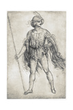 Youth in a Masquerade Costume, 1506-1507 Giclee Print by  Leonardo da Vinci