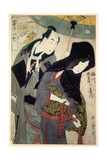 The Lovers, Chubei and Umegawa, Late 18th-Early 19th Century Giclée-tryk af Kitagawa Utamaro