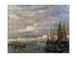 Landscape with Boats, Late 19th or Early 20th Century Giclee Print by Karl Hagemeister