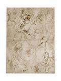 Kneeling Madonna with the Child and St.John, 1478-1480 Giclée-Druck von  Leonardo da Vinci