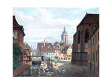 Place Des Dominicains, Colmar, 1876 Giclee Print by Michel Hertrich