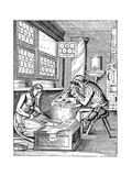The Clasp Maker's Workshop, 16th Century Giclee Print by Jost Amman