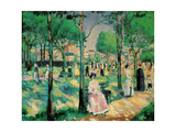 On the Boulevard, 1903 Giclee Print by Kazimir Malevich