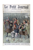 Two French Officers Murdered by the Quang-Tcheou-Wan, 1899 Giclee Print by Jose Belon