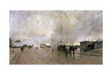 Smoke on the Paris Circuit Line, 1885 Giclee Print by Luigi Loir