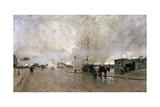 Smoke on the Paris Circuit Line, 1885 Giclee Print by Luigi Loir