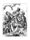 A Guitarist, a Lutenist and a Trombone Player, 16th Century Giclee Print by Jost Amman