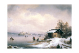 Winter Landscape, Ljubljana, C1844-1871 Giclee Print by Marko Pernhart