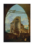 The Demolition of the Abbey of Montmartre, C1740-1800 Giclee Print by Louis Gabriel Moreau