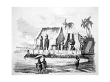 King's Temple in the Bay of Tiritatea, C1746-1830 Giclee Print by Ludwig Choris