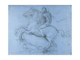 Study for the Sforza Monument, C1488-1493 Giclée-Druck von  Leonardo da Vinci