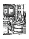 The Paper Maker, 16th Century Giclee Print by Jost Amman