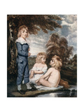 Children Bathing, 18th Century Giclee Print by L Edwards