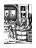 Paper Maker, 16th Century Giclee Print by Jost Amman