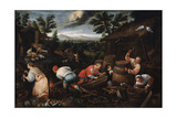 August' (From the Series 'The Seasons), Late 16th or Early 17th Century Giclee Print by Leandro Bassano