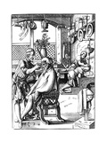 Barber, 16th Century Giclee Print by Jost Amman