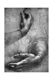Study of Hands, 15th Century Giclee Print by  Leonardo da Vinci