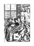 Bookbinder, 16th Century Giclee Print by Jost Amman