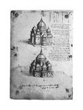Designs for a Central Church, C1488-1490 Giclee Print by  Leonardo da Vinci