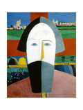 Head of a Peasant, 1928-1932 Giclee Print by Kazimir Malevich