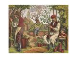 Gardening, 1871 Giclee Print by Oskar Pletsch